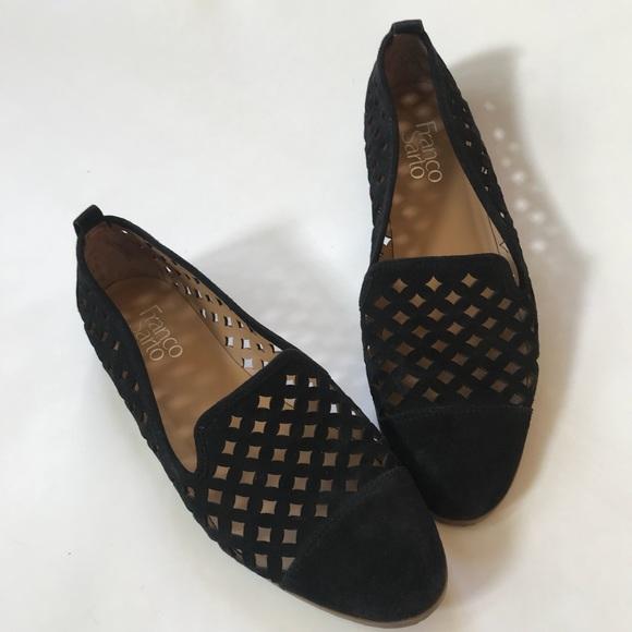 f8cbba51ff6 Franco Sarto Shoes - Franco Sarto Famous Flat Preforated suede Loafers